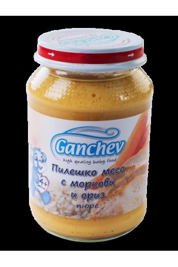 Ганчев Пиле с морков и ориз 190г. - Ganchev