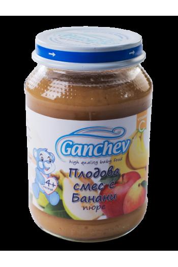 Ганчев Плодова смес с банан 190г. - Ganchev